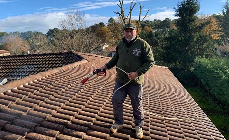 nettoyage de toiture à Parempuyre